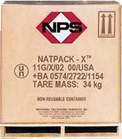 Natpack-X™ Disposable Corrugated Containers
