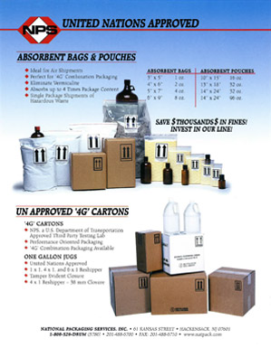 Absorbent Bags and Cartons